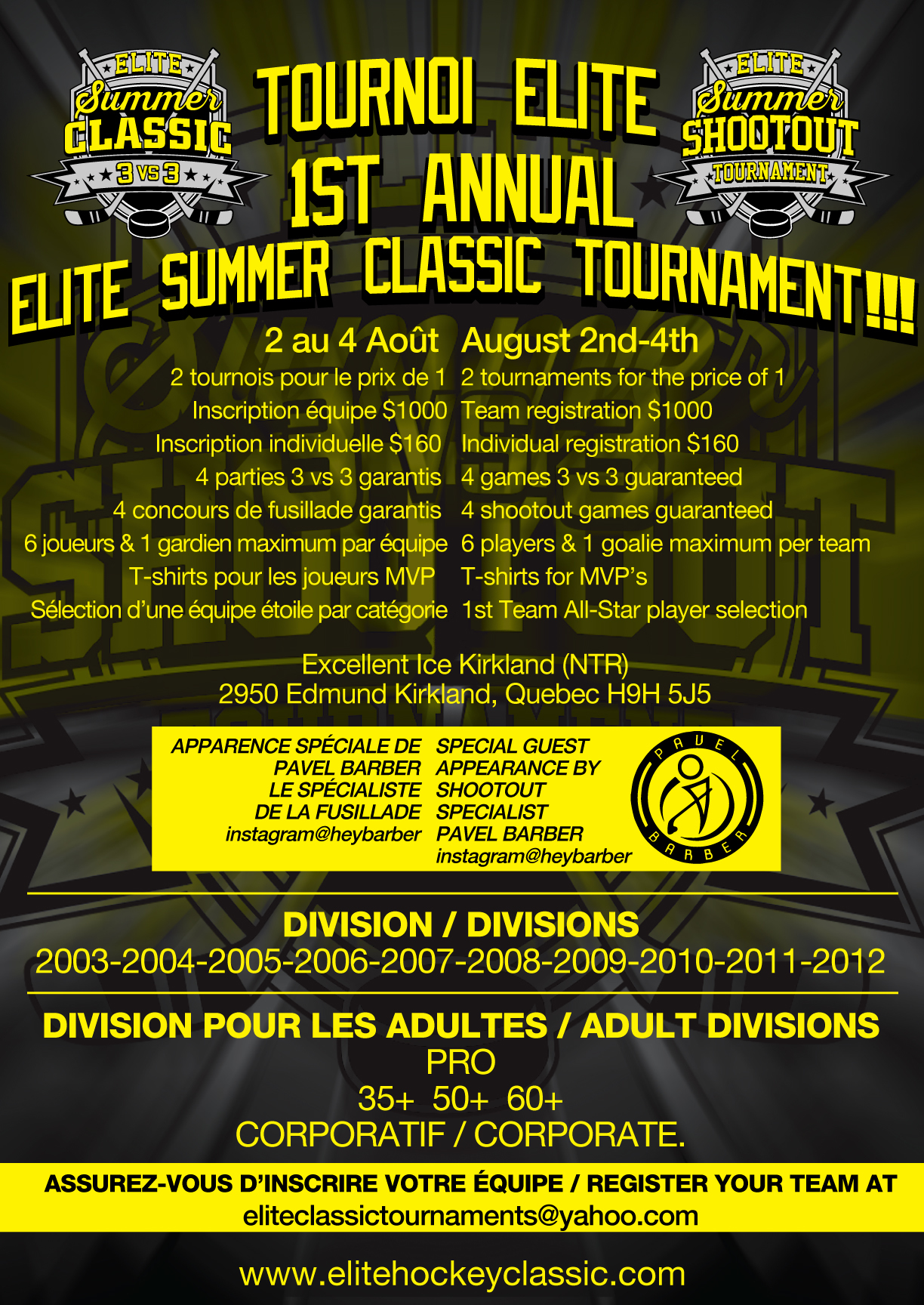 Elite Summer Classic Flyer